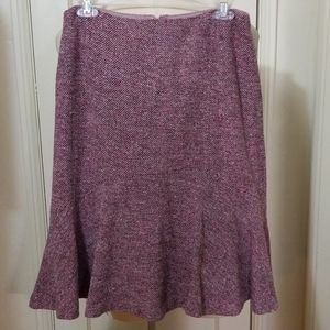ANN TAYLOR tweed purple skirt